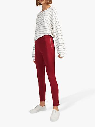 French Connection Kara Skinny Trousers, Rosso Red