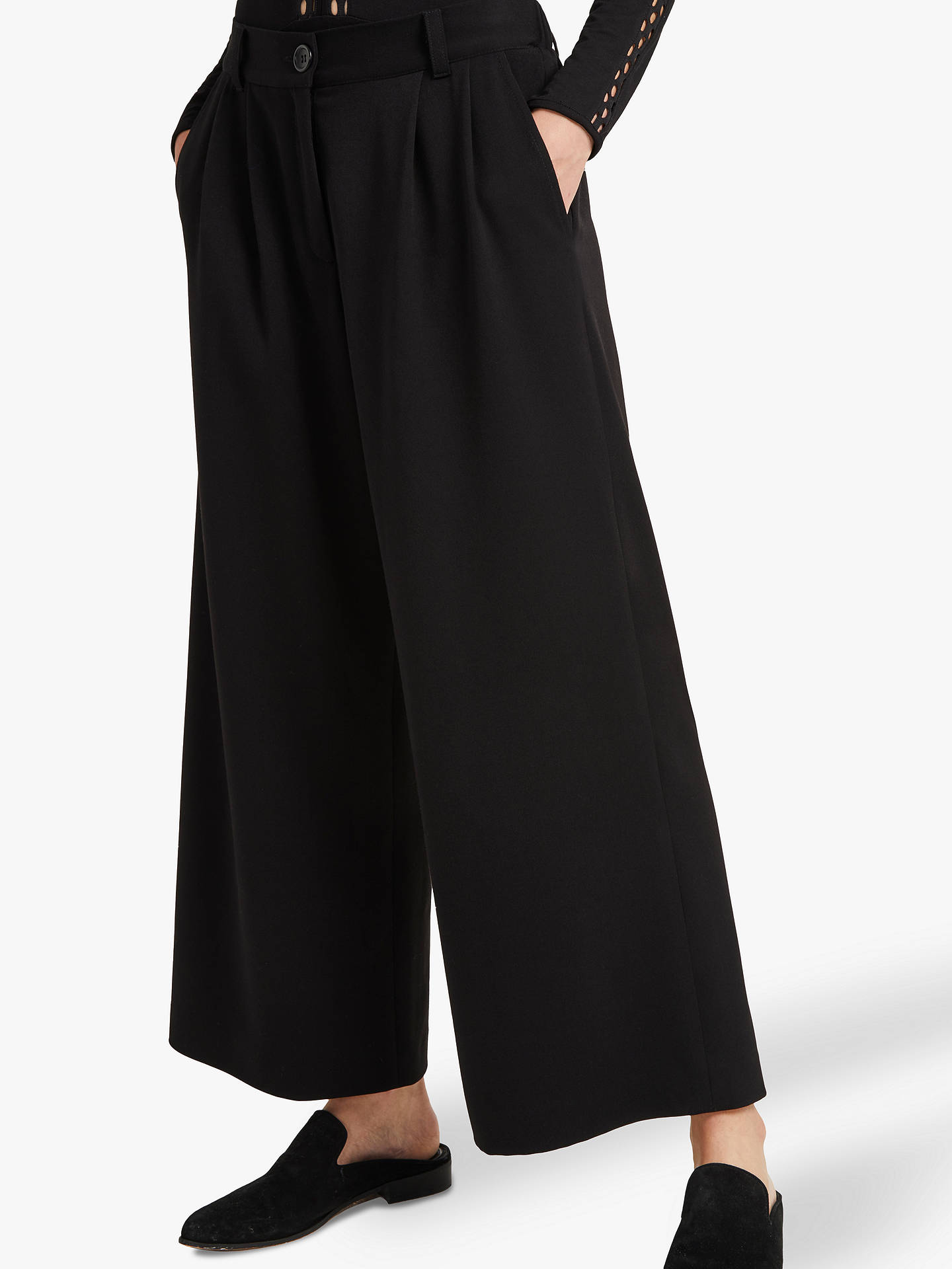 1b61ca7530d Buy French Connection Angeline Wide Leg Trousers, Black, 8 Online at  johnlewis.com ...