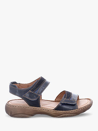 Buy Josef Seibel Debra 19 Ankle Strap Sandals, Denim Leather, 8 Online at johnlewis.com