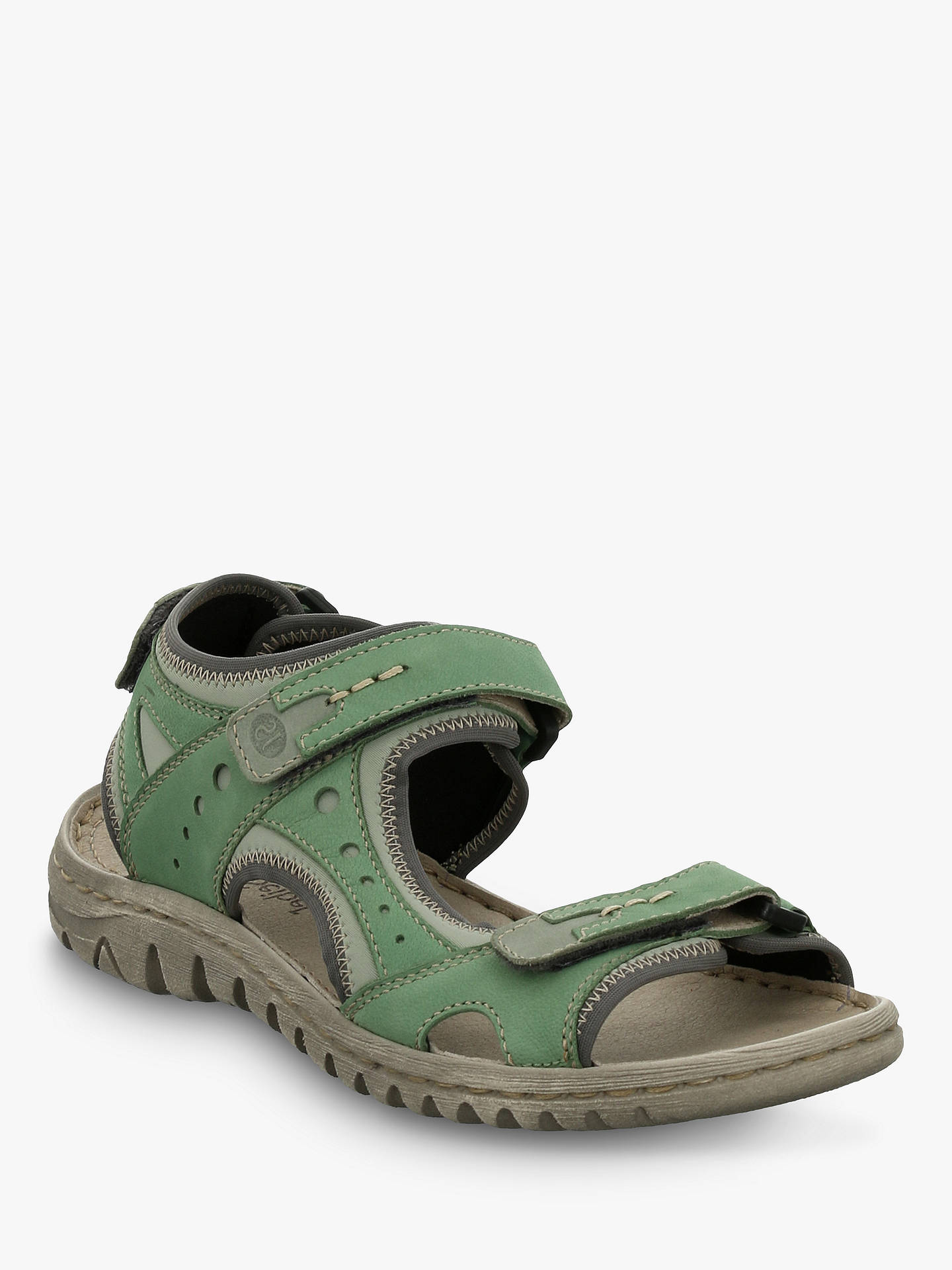 Buy Josef Seibel Lucia 17 Triple Strap Sandals, Green Mix Leather, 3 Online at johnlewis.com