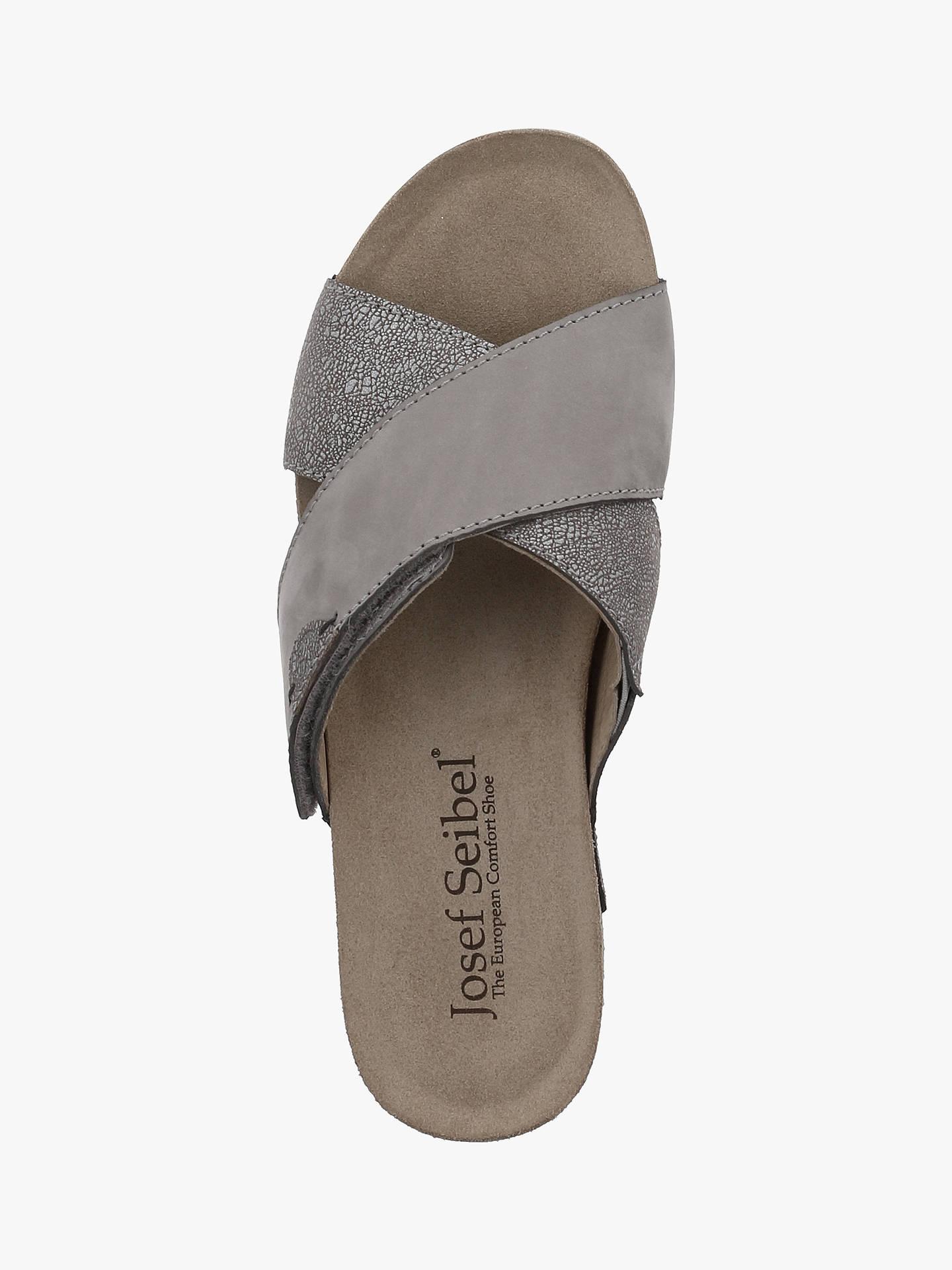 adb3ec0d5bd93 ... Buy Josef Seibel Meike 15 Cross Over Strap Sandals, Asphalt, 4 Online  at johnlewis ...