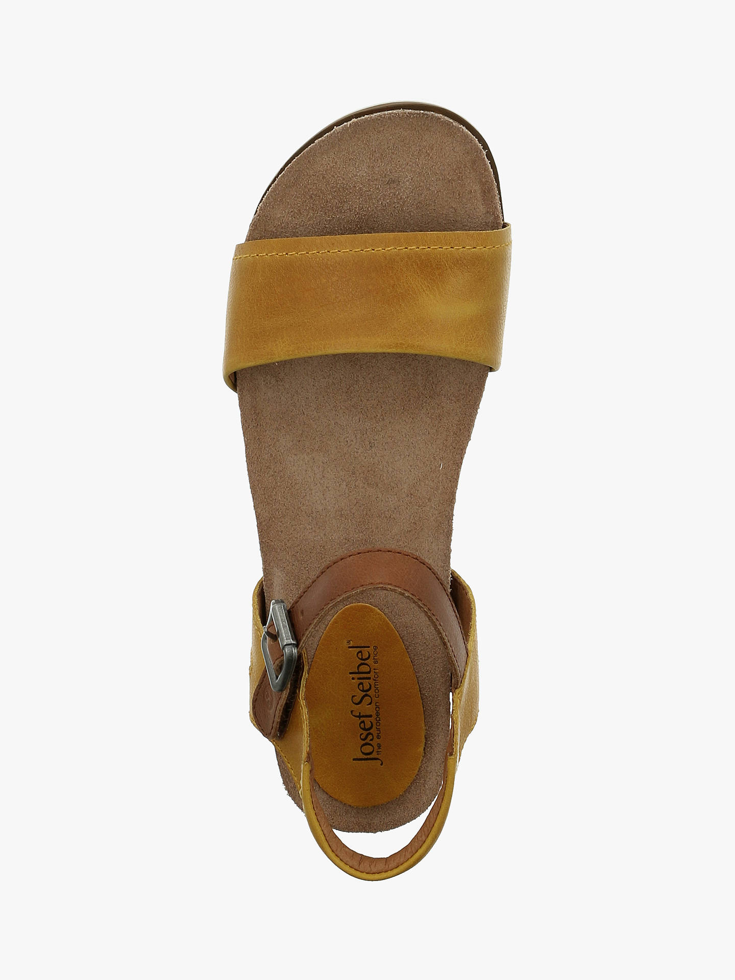 Buy Josef Seibel Clea 01 Strap Sandals, Gelb Kombi Leather, 4 Online at johnlewis.com