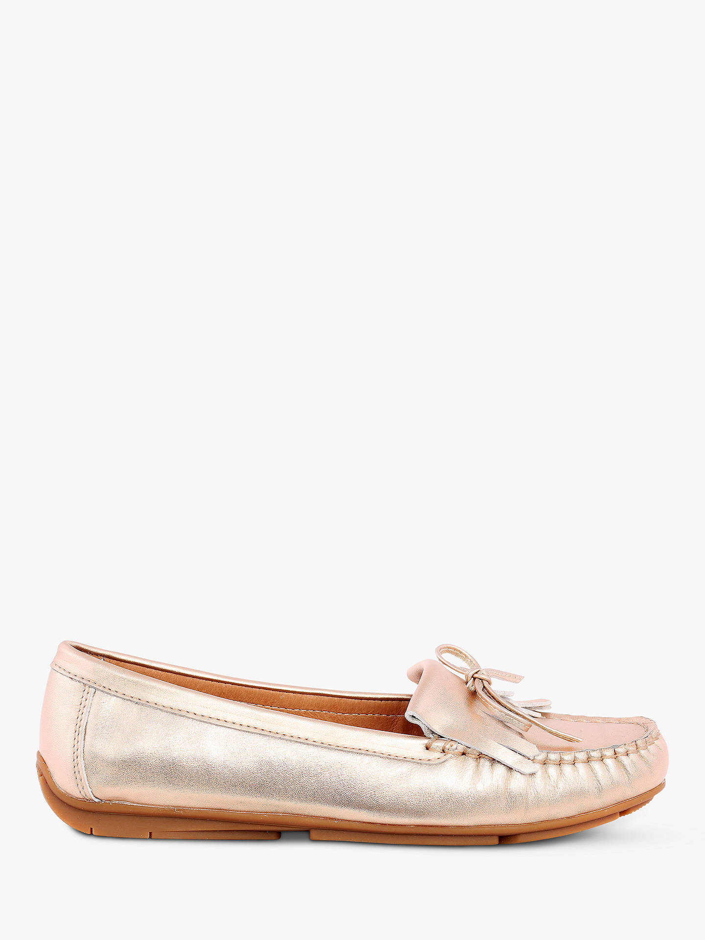 Buy Josef Seibel Elina 03 Bow and Fringe Moccasins, Gold Leather, 7 Online at johnlewis.com