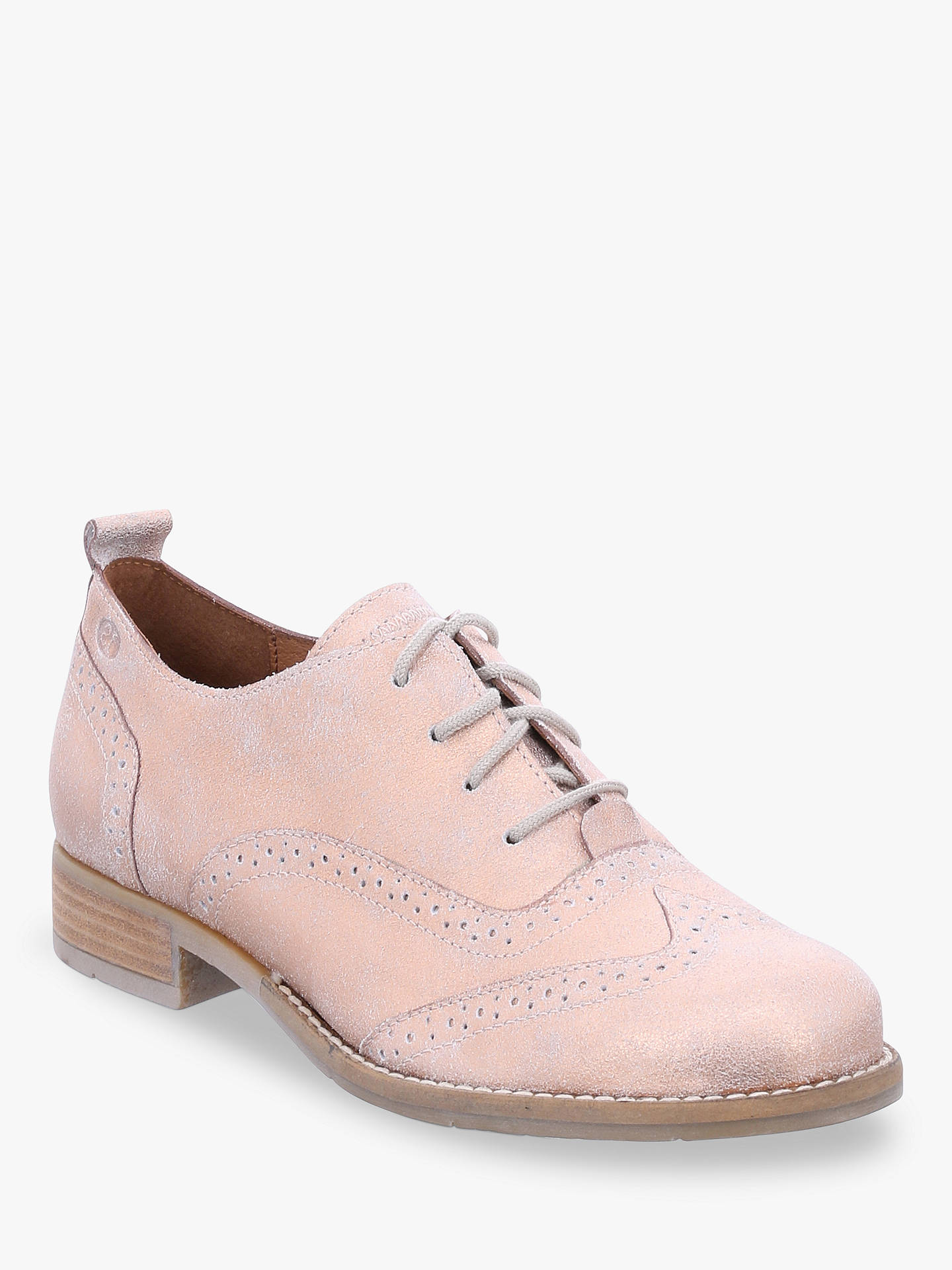 Josef Seibel Sienna 89 Lace Up Brogues, Nude Leather at