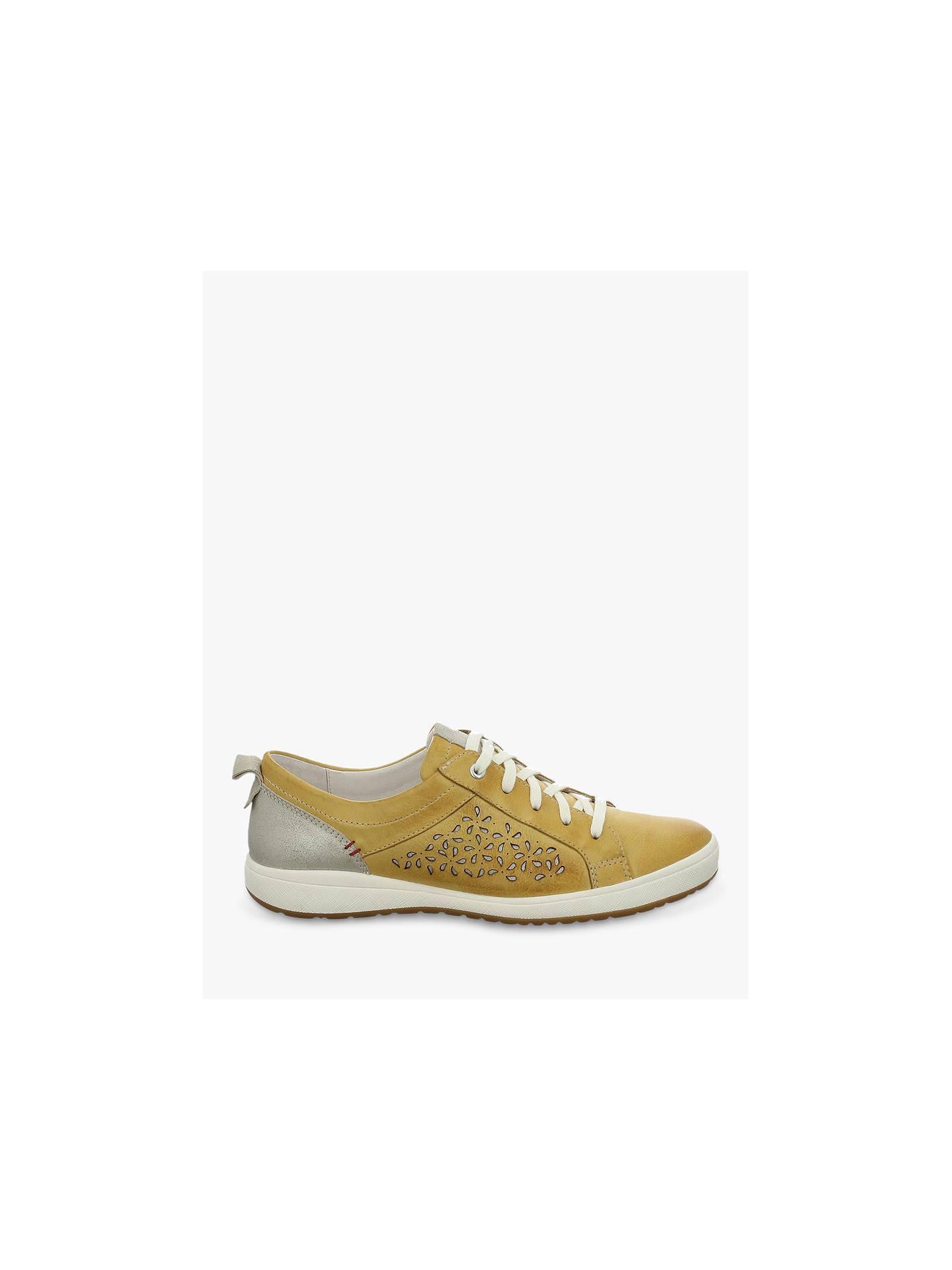 24a7c0ef ... Buy Josef Seibel Caren 06 Low Top Cut Out Flatform Trainers, Mustard  Leather, 4 ...