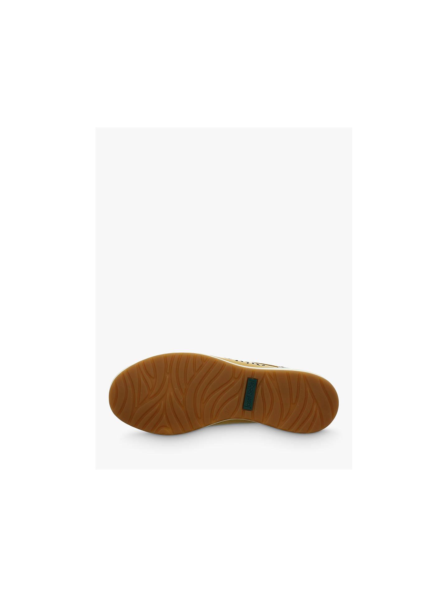 6c0f0e73 ... Buy Josef Seibel Caren 06 Low Top Cut Out Flatform Trainers, Mustard  Leather, 4