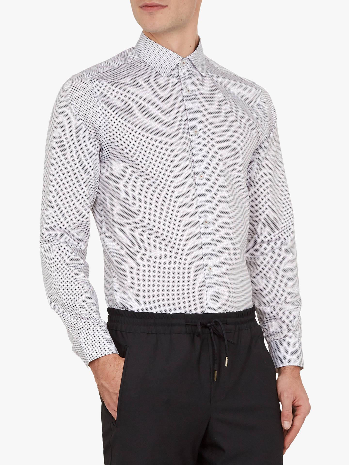 358955852a62d0 Ted Baker Subik Geo Print Slim Fit Shirt at John Lewis   Partners
