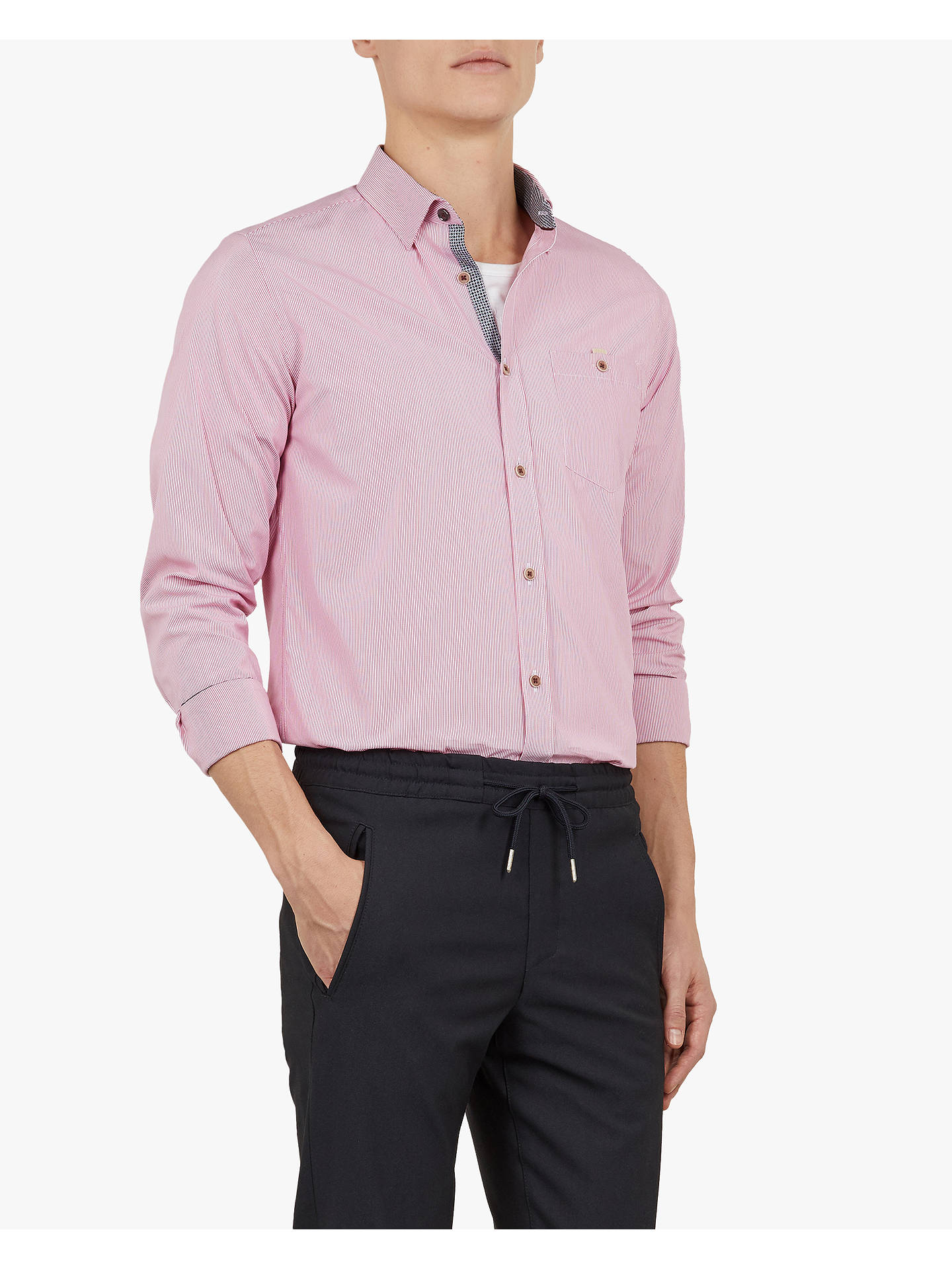 0d4eadfa33aa87 Ted Baker Yerman Long Sleeve Shirt at John Lewis   Partners