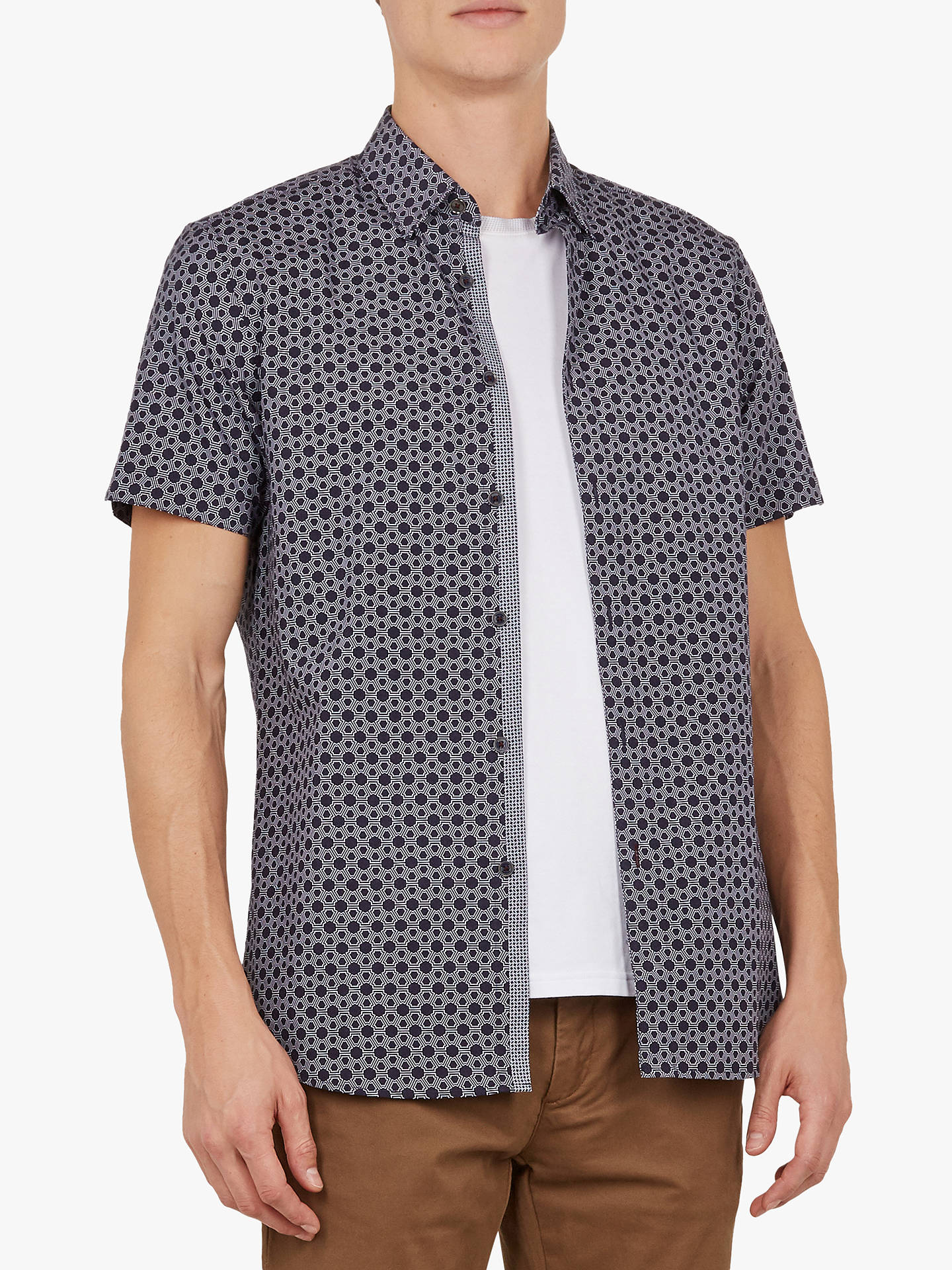 1d2c2d83f3a858 Ted Baker Enyone Short Sleeve Printed Shirt at John Lewis   Partners
