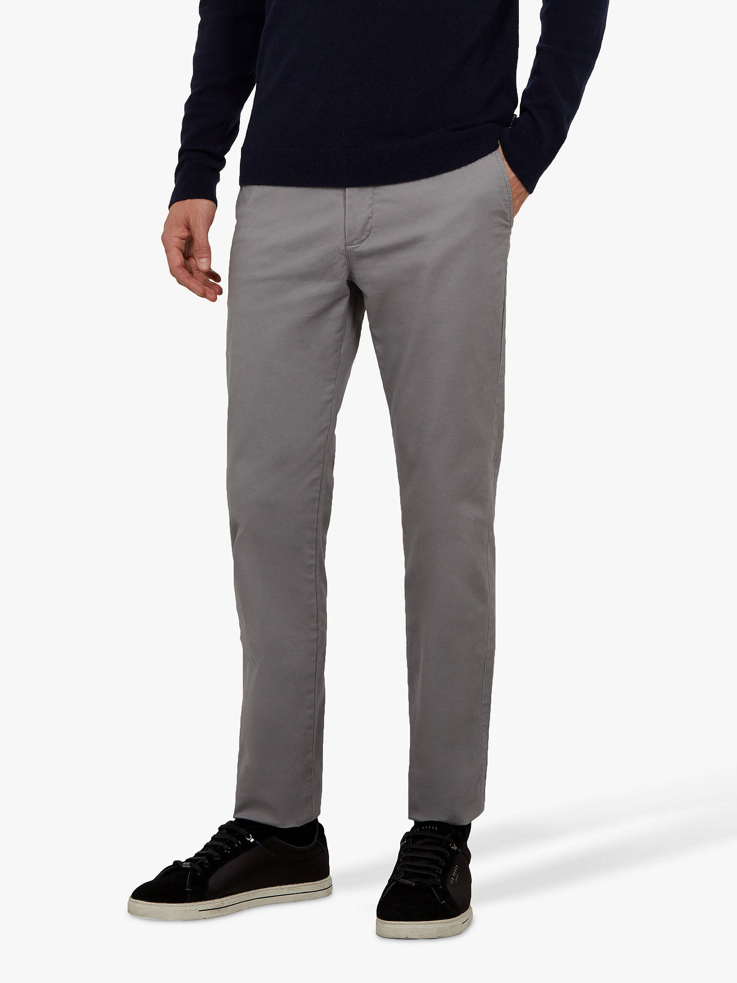 Buy Ted Baker Teenchi Slim Fit Chinos, Grey, 32R Online at johnlewis.com