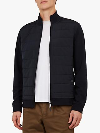 Ted Baker Mowntan Quilted Funnel Neck Jacket, Navy