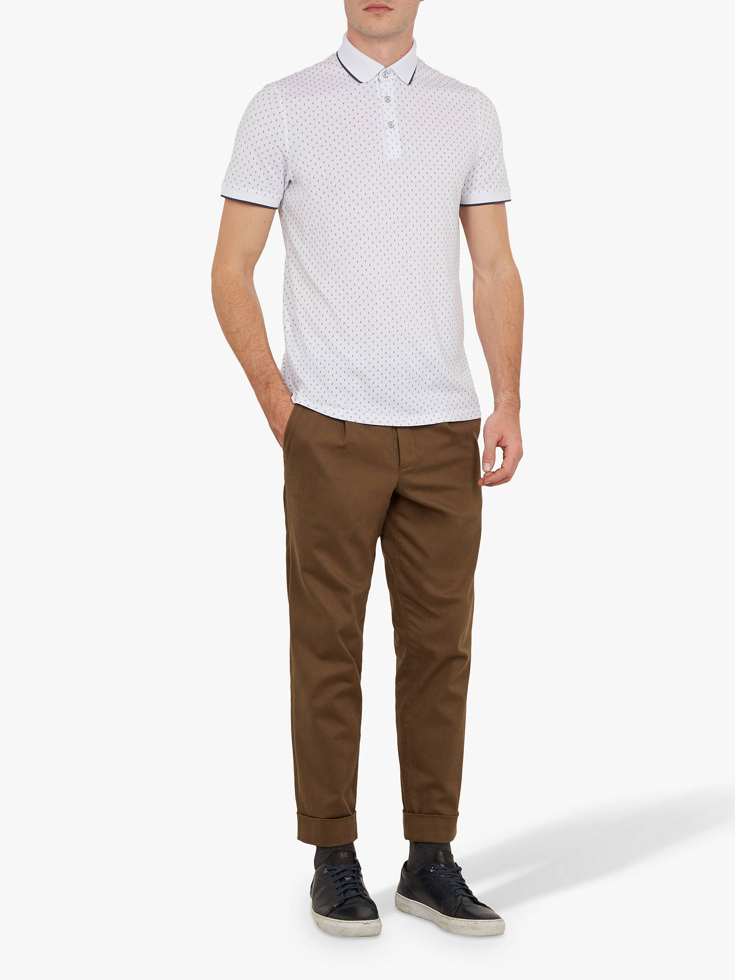 0a676bd46 Ted Baker Toff Short Sleeve Circle Print Polo Shirt at John Lewis ...