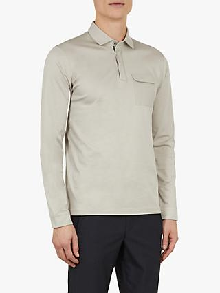 Ted Baker Python Long Sleeve Polo Shirt