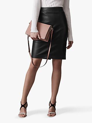a3794d70826 Reiss Kristen Leather Pencil Skirt
