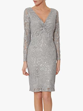 Gina Bacconi Janella Lace Dress, Grey