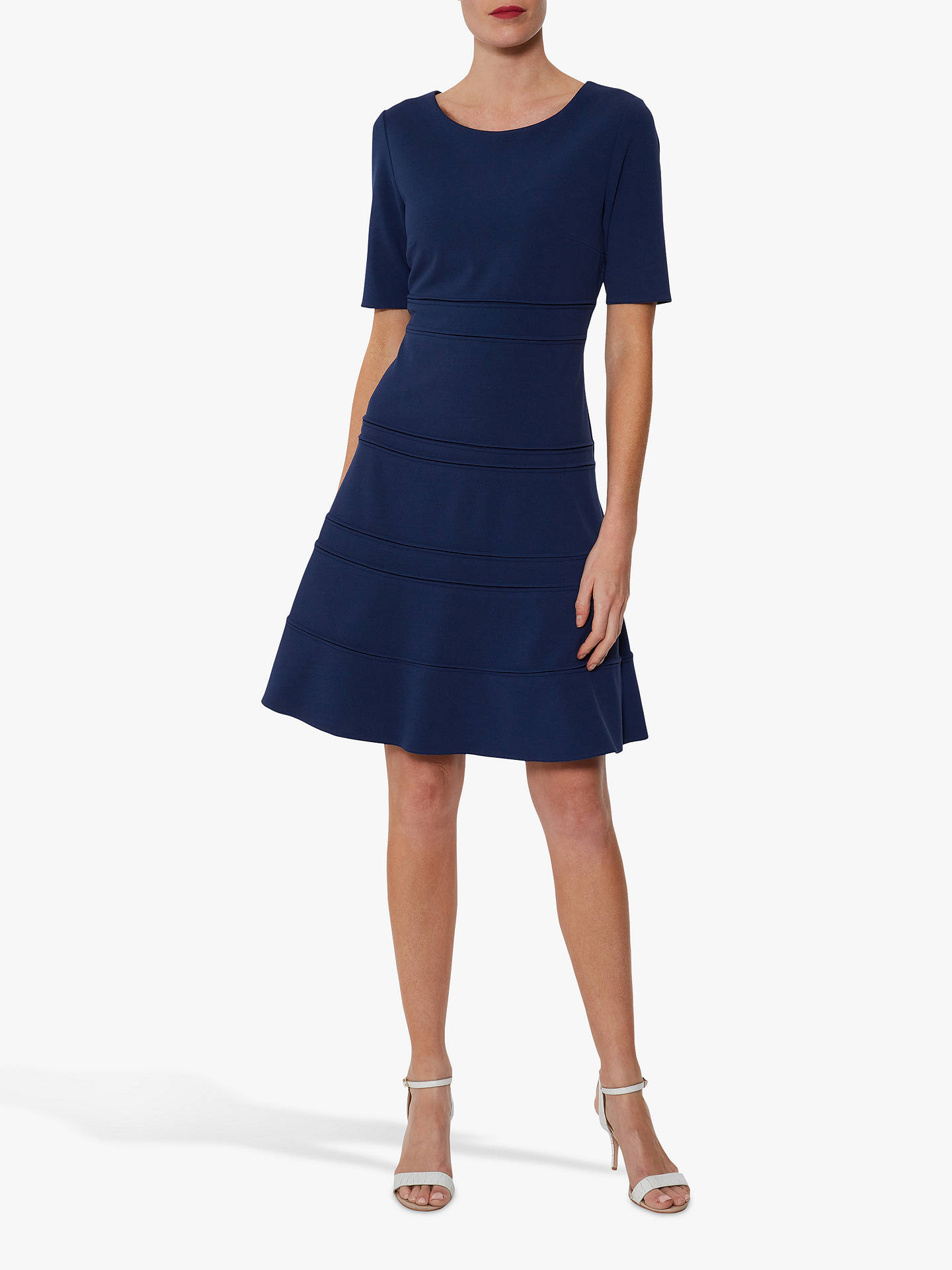 Buy Gina Bacconi Brie Crepe Dress, Midnight, 16 Online at johnlewis.com