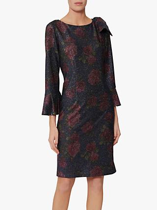 Gina Bacconi Belanna Print Dress, Navy/Pink