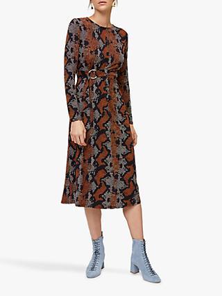 4452a4bfb54 Warehouse Snake Print Midi Dress