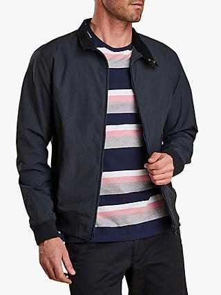 Barbour Royston Waxed Cotton Lightweight Harrington Jacket, Navy
