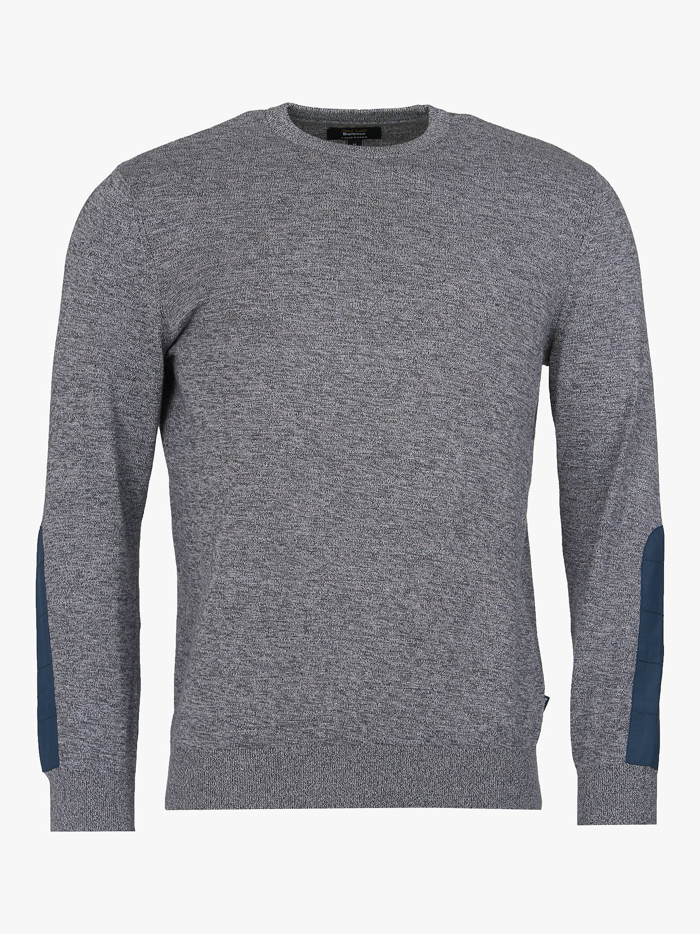 BuyBarbour Land Rover Defender Crew Neck Jumper, Grey Marl, M Online at johnlewis.com