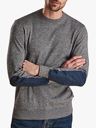 Barbour Land Rover Defender Crew Neck Jumper, Grey Marl