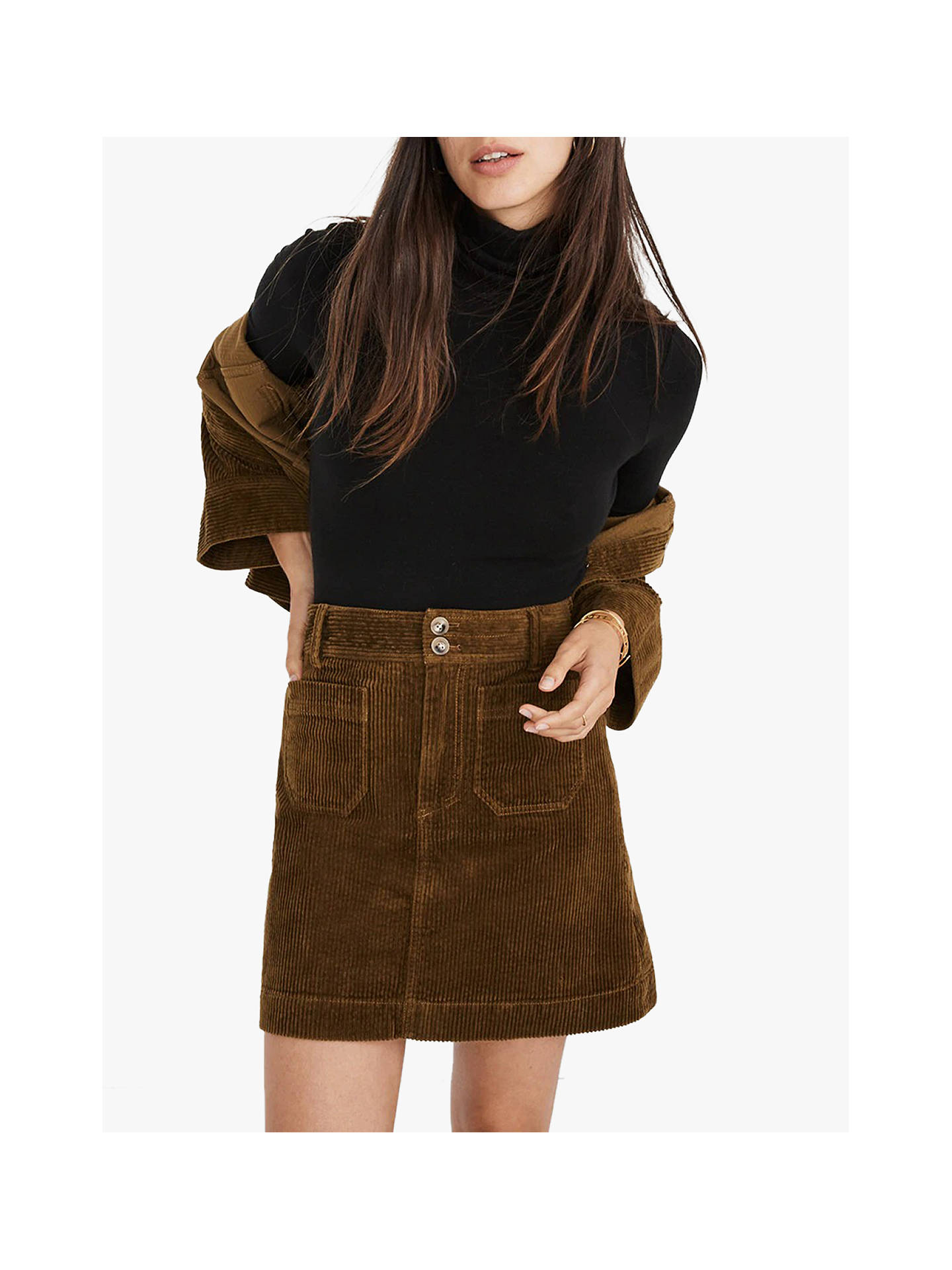 200546bd9 Buy Madewell Corduroy A-Line Mini Skirt, Asparagus, 4 Online at johnlewis.