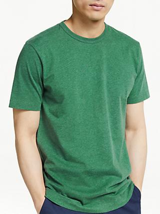 John Lewis & Partners Melange Cotton Crew Neck T-Shirt
