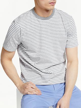 John Lewis & Partners Fine Stripe Cotton T-Shirt
