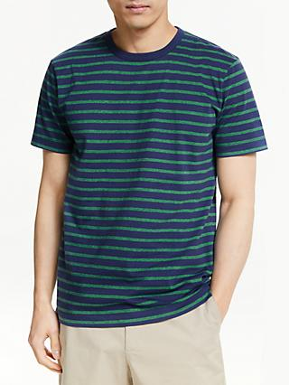 John Lewis & Partners Breton Stripe Marl Cotton T-Shirt