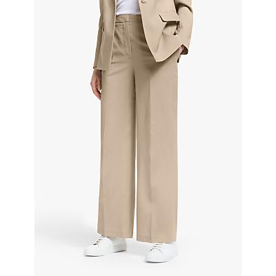 John Lewis & Partners Wide Leg Trousers, Neutral