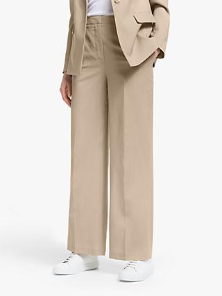 John Lewis & Partners Wide Leg Trousers, Neutral