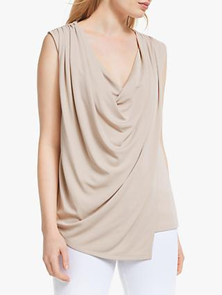 John Lewis & Partners Double Layer Cowl Neck Top