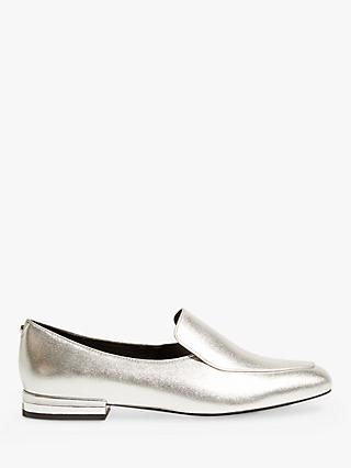Karen Millen Metallic Loafer Pumps