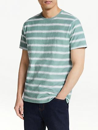 41068eb8 John Lewis & Partners Slub Cotton Stripe T-Shirt