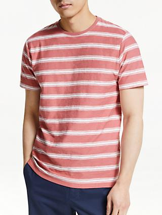 John Lewis & Partners Slub Cotton Stripe T-Shirt