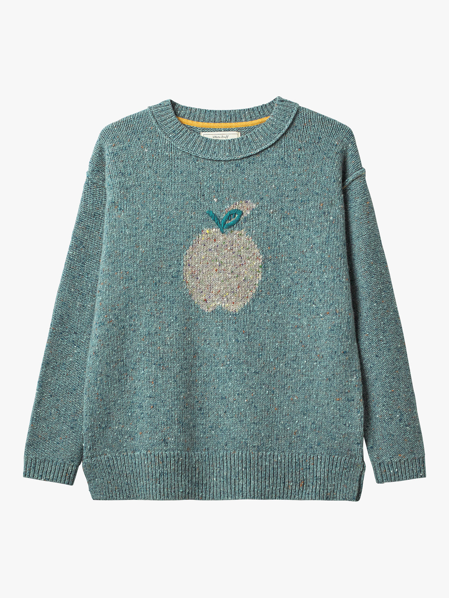 White Stuff Pomme Embroidery Jumper, Seafoam Green at John
