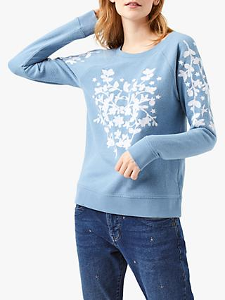White Stuff Rue De Pomme Sweatshirt, Blue