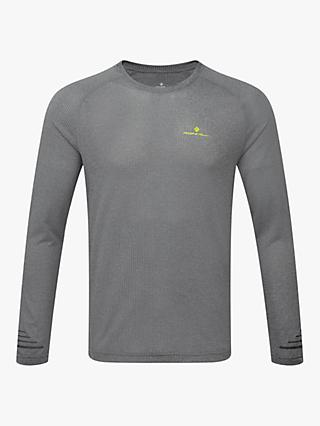 Ronhill Stride Long Sleeve Running Top, Grey