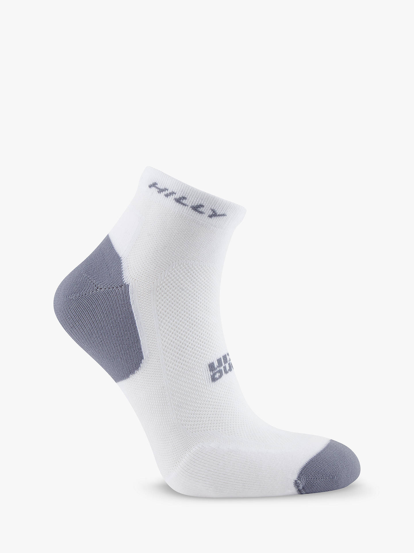 Buy Hilly Tempo Quarter Running Socks, Pack of 2, White, S Online at johnlewis.com