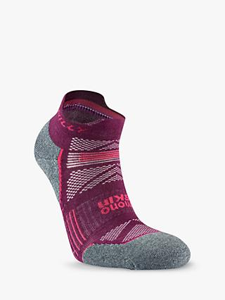 Hilly Supreme Running Socks, Elderberry/Grey Marl