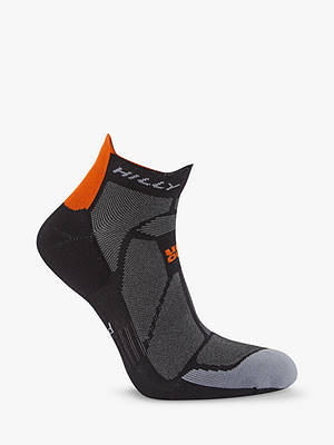 Buy Hilly Marathon Socks, Black/Grey, S Online at johnlewis.com