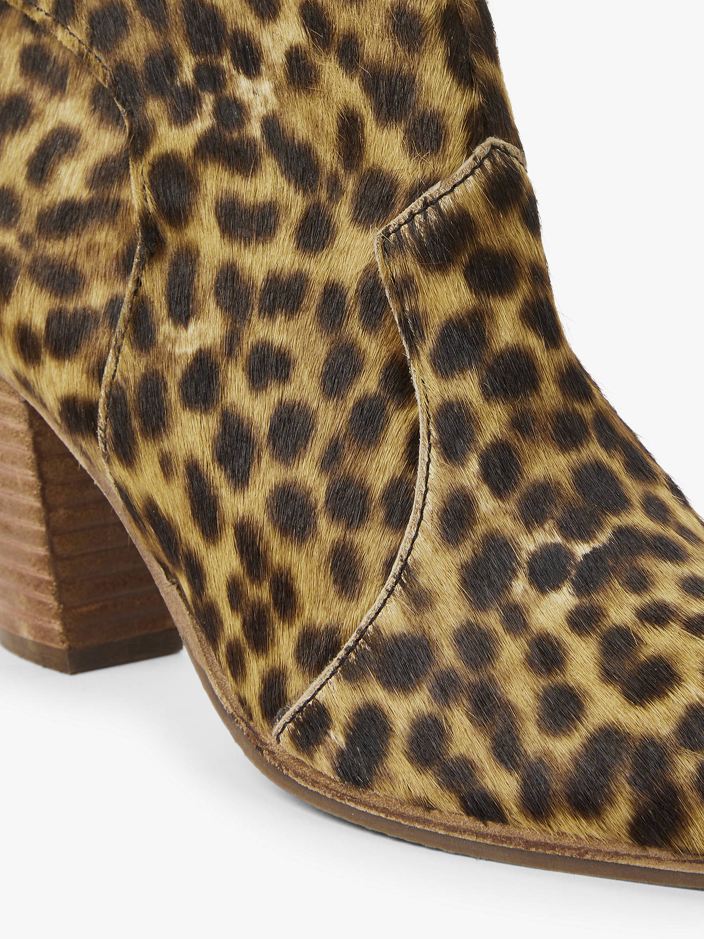 BuyBoden Hoxton Heeled Ankle Boots, Tan Leopard, 4 Online at johnlewis.com