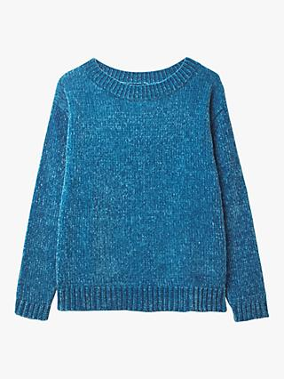 White Stuff Time To Shine Chunky Chenille Jumper, Teal