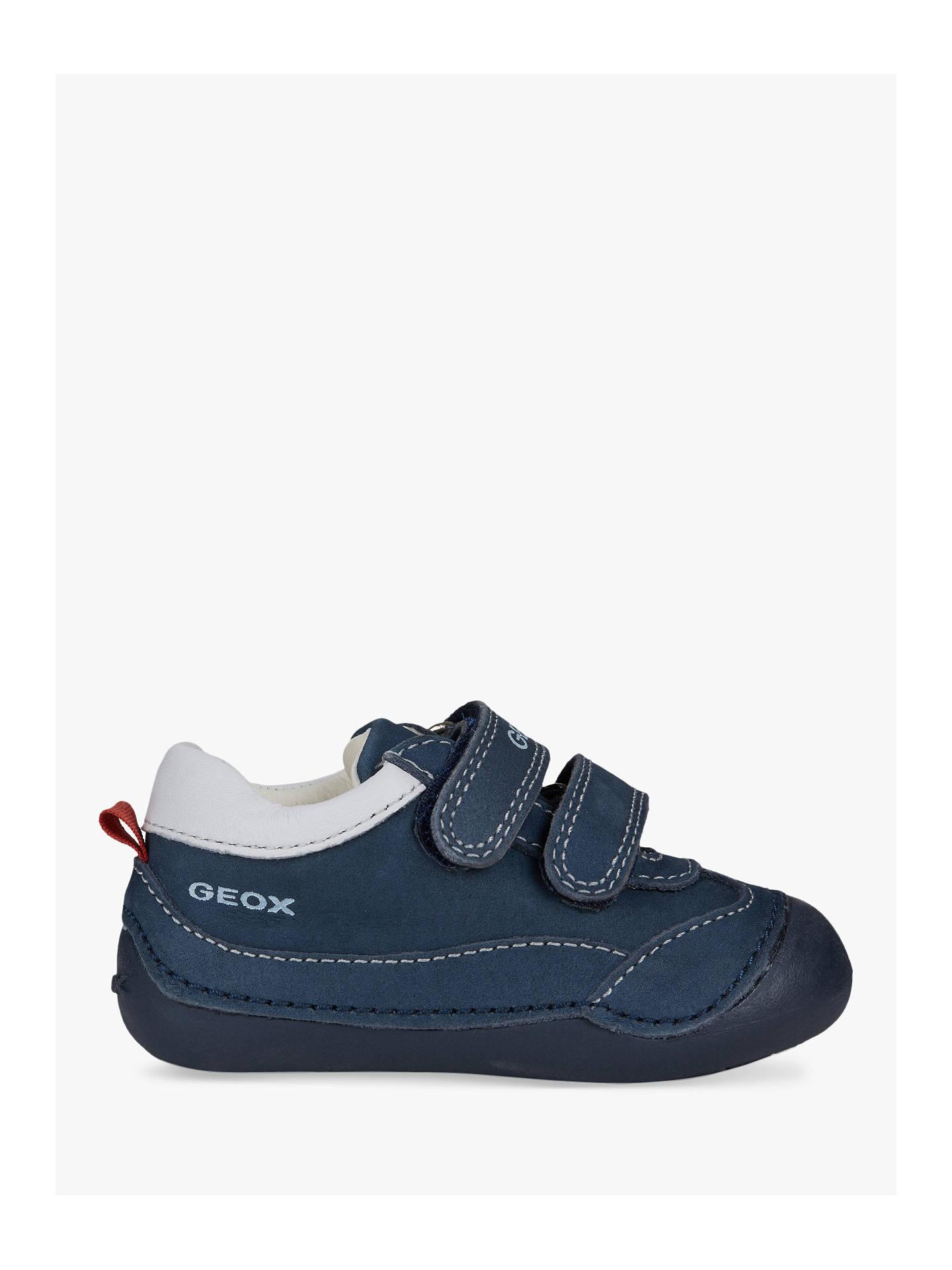 776f7b1257 Buy Geox Children's Tutim B Riptape Shoes, Navy/White, 19 Online at  johnlewis ...