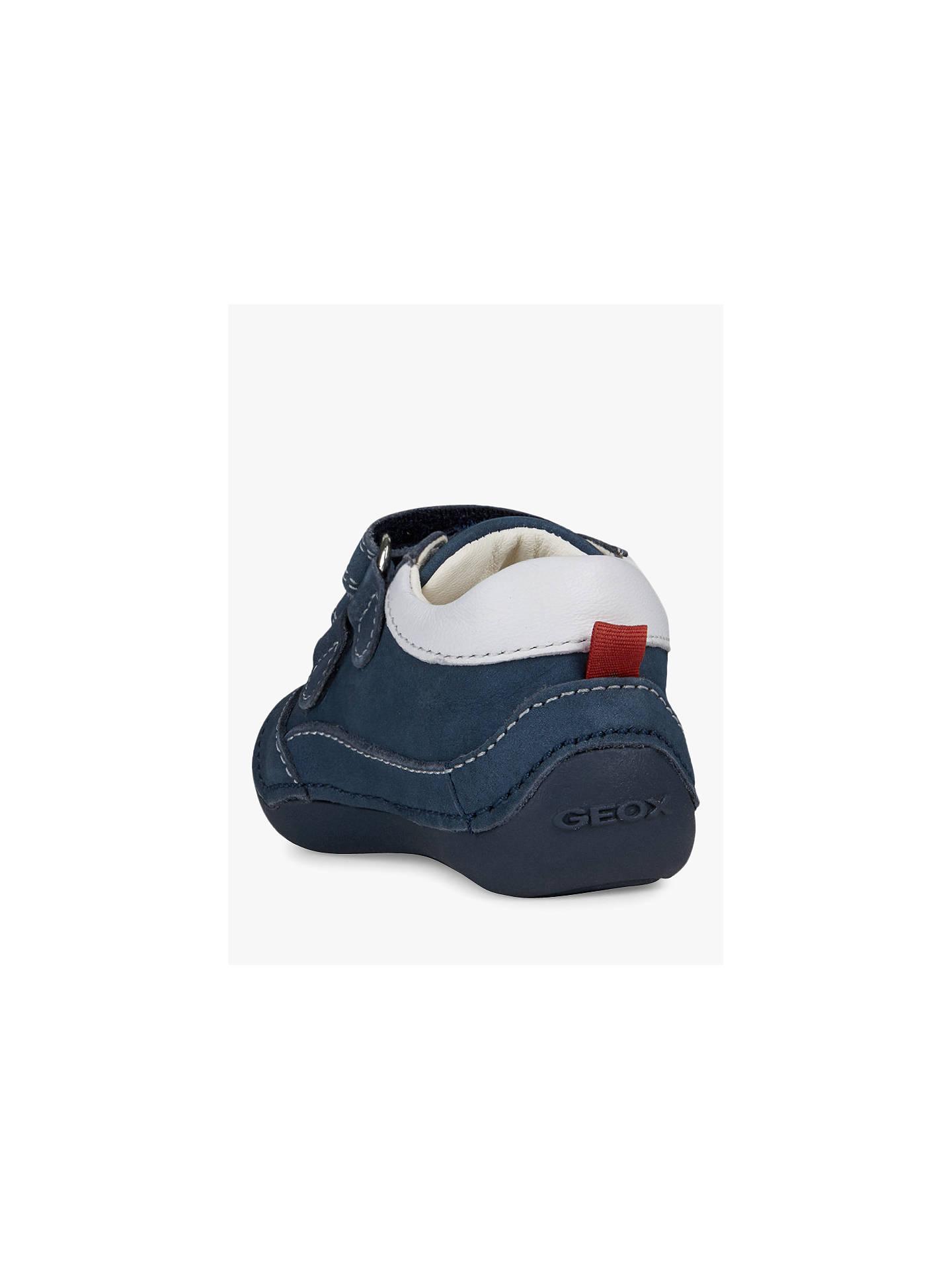 f0fa6e81f9 ... Buy Geox Children's Tutim B Riptape Shoes, Navy/White, 19 Online at  johnlewis ...