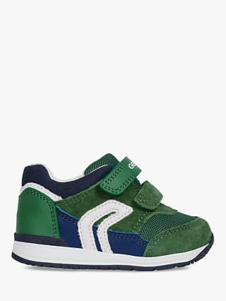 Geox Children's Rishon Shoes, Green/Navy