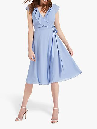 Phase Eight Allegra Wrap Dress, Powder Blue