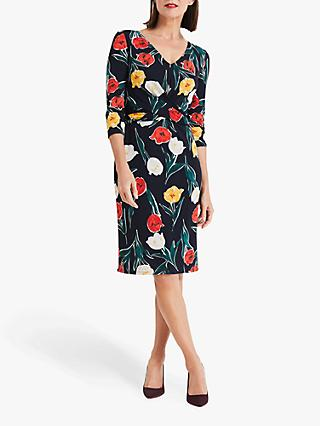 Phase Eight Nicole Printed Dress, Navy Multi