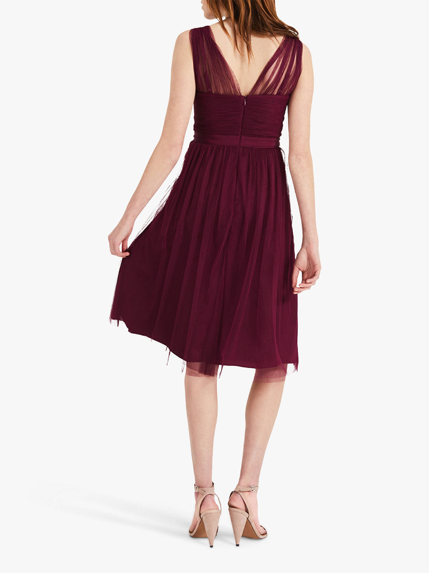 Buy Phase Eight Romy Tulle Bridesmaid Dress, Magenta, 18 Online at johnlewis.com