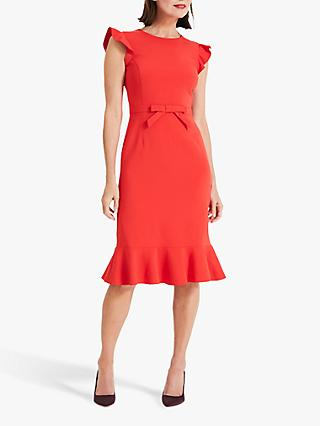 Phase Eight Stella Bow Detail Dress, Vermilion Red
